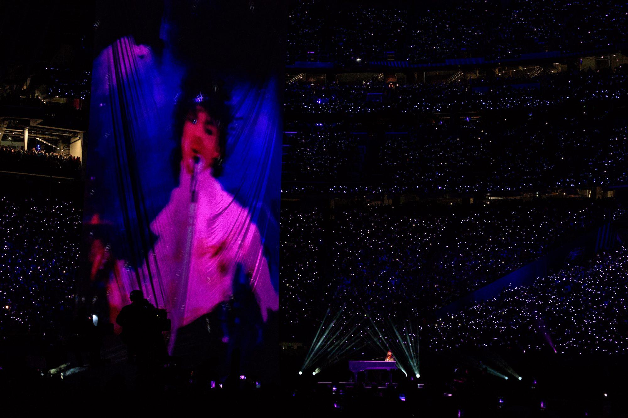 Justin Timberlake durante el Super Bowl