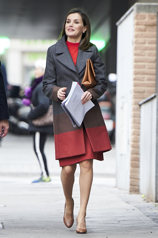 Queen Letizia Of Spain Arrives At FEDER Meeting