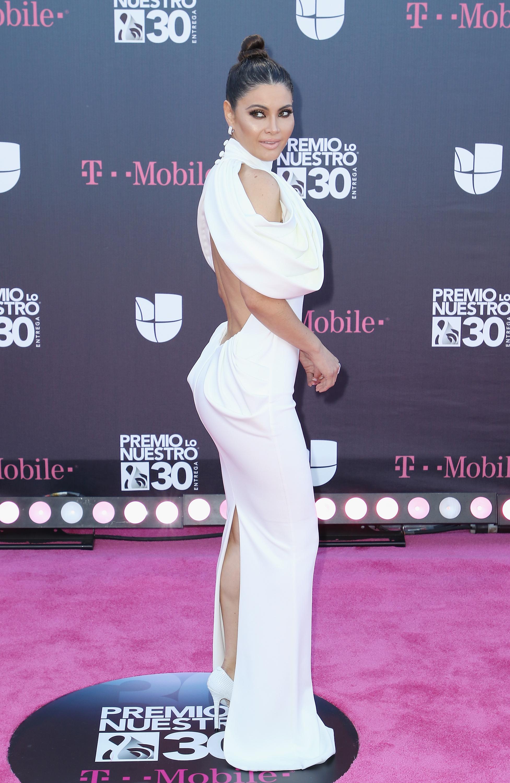 Chiquinquira Delgado, look, alfombra, premio lo nuestro, 2018, mejor vestida,