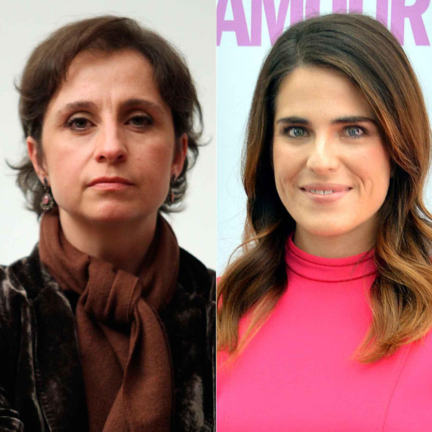 Carmen Aristegui; Karla Souza