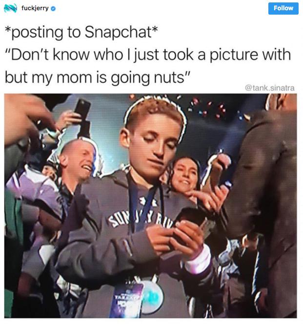 Super Bowl Selfie kid4