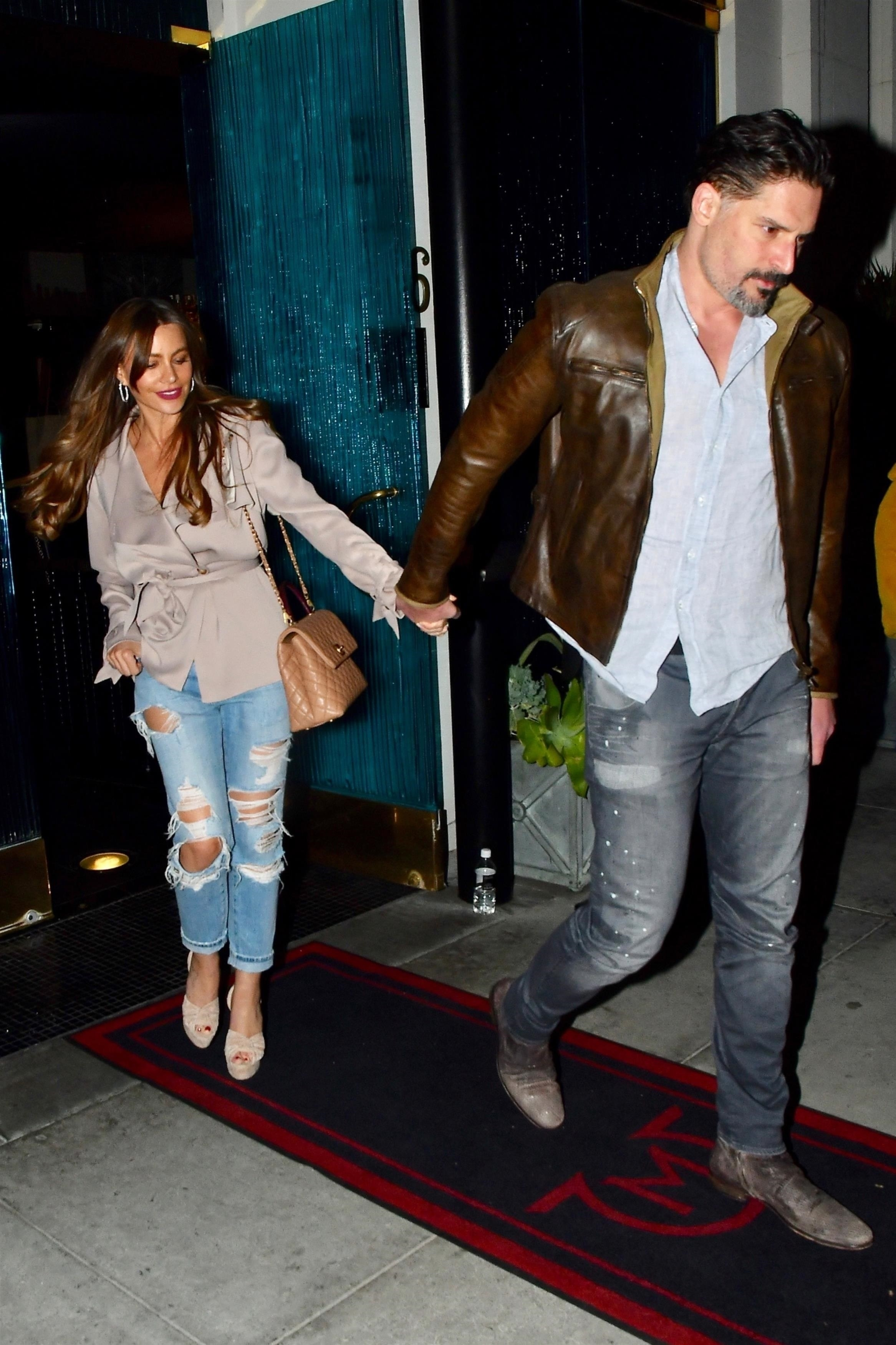 EXCLUSIVE Sofia Vergara and Joe Manganiello Enjoy Date Night at Mastro's