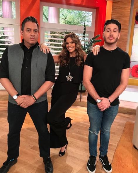 Rachel Díaz, Daniel Sarcos y Chef James