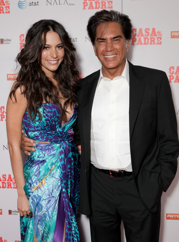 Genesis Rodriguez con papa Jose Luis 'El Puma' Rodriguez