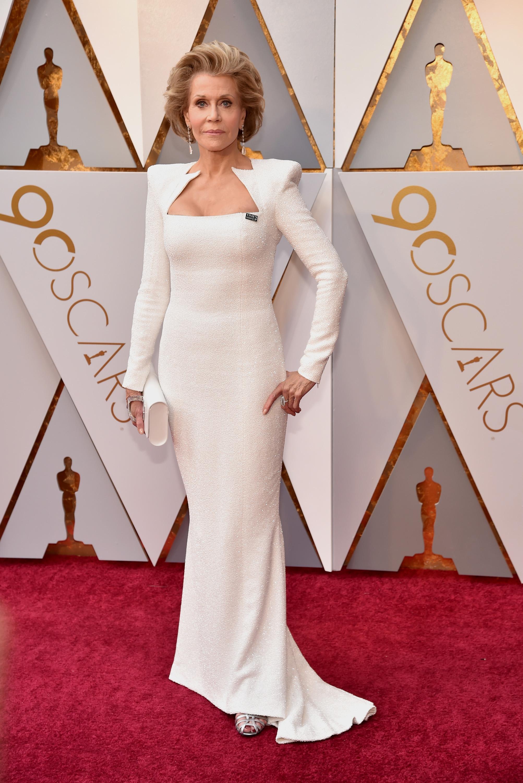 Jane Fonda, look, vestido, oscar, oscar 2018