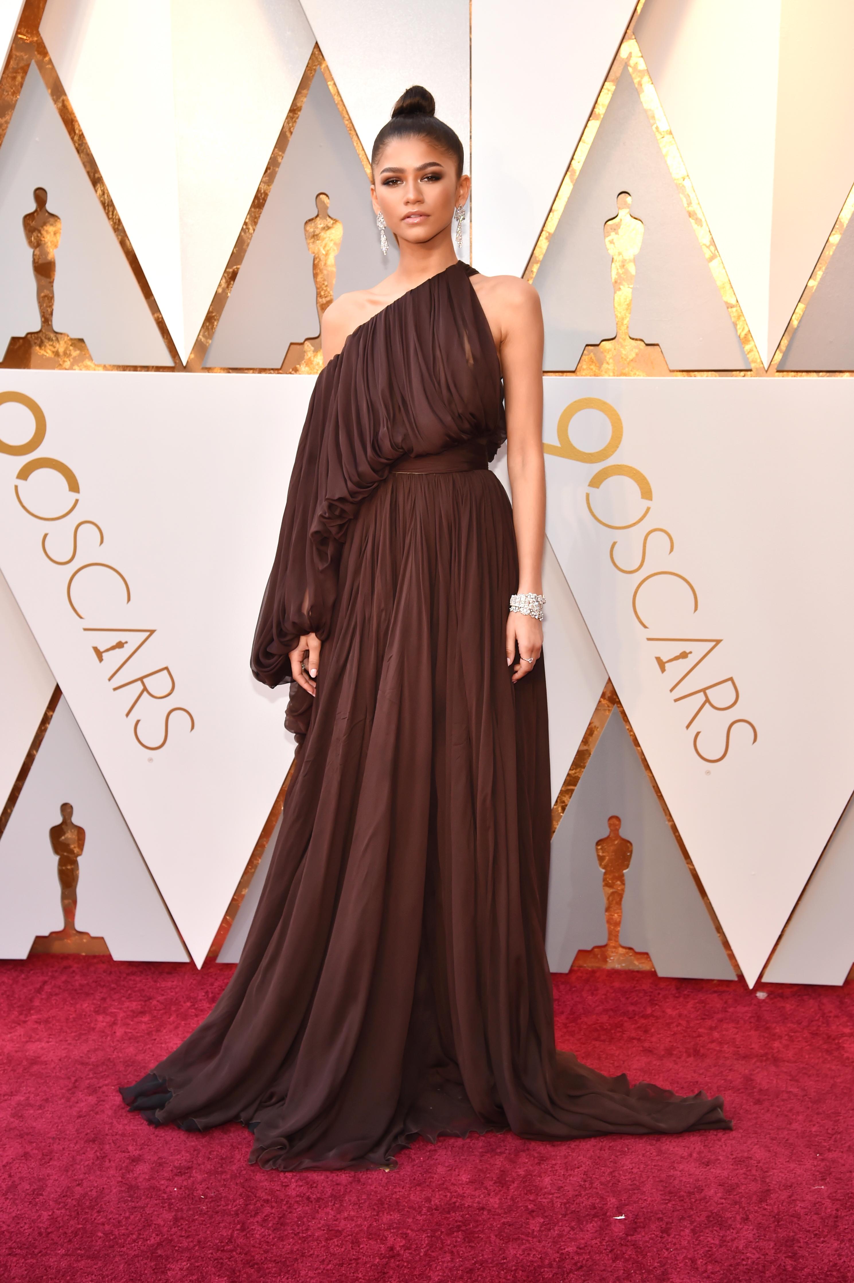 Zendaya, look, vestido, oscar 2018