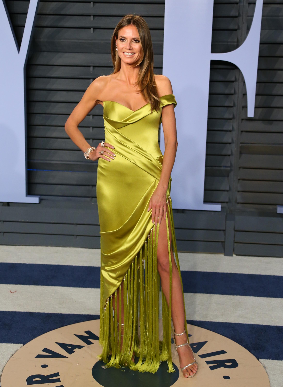Heidi Klum, los oscar, vestido, after party, vanity fair