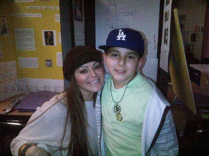 Jenni Rivera y su hijo Johnny López