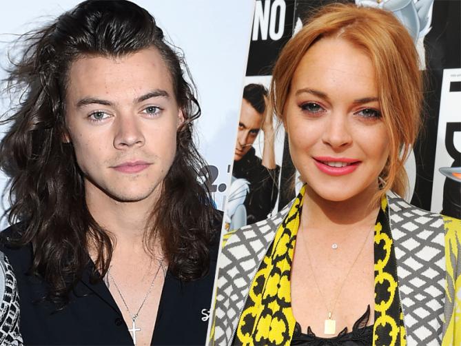 Lindsay Lohan y Harry Styles