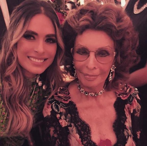 Galilea Montijo y Sofía Loren