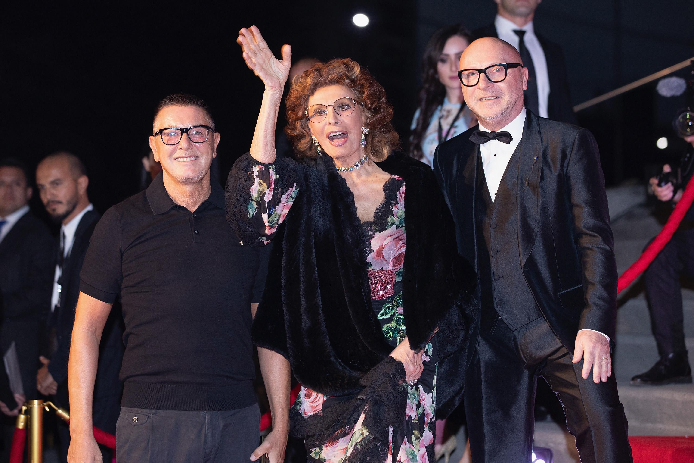 Stefano Gabbana Sofía Loren Domenico Dolce