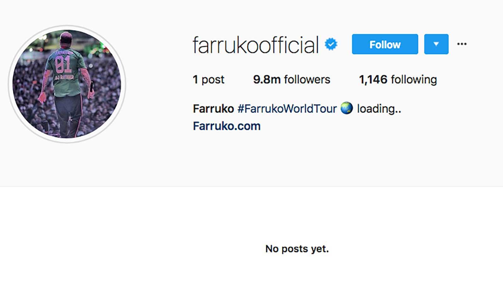 Cuenta de Instagram de Farruko