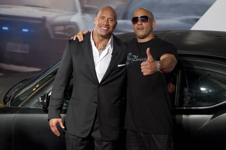 Dwayne Johnson y Vin Diesel