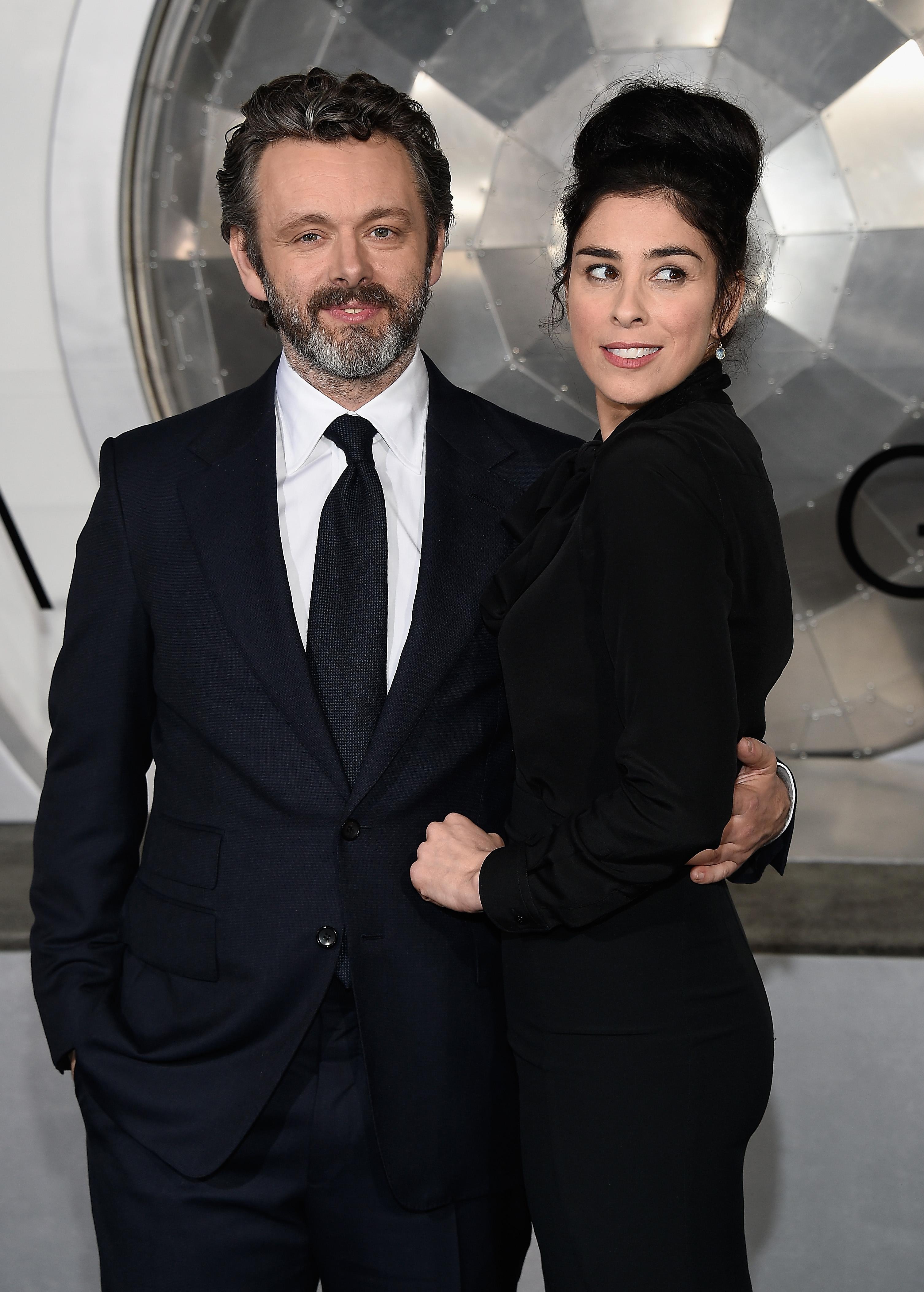 Michael Sheen y Sarah Silverman
