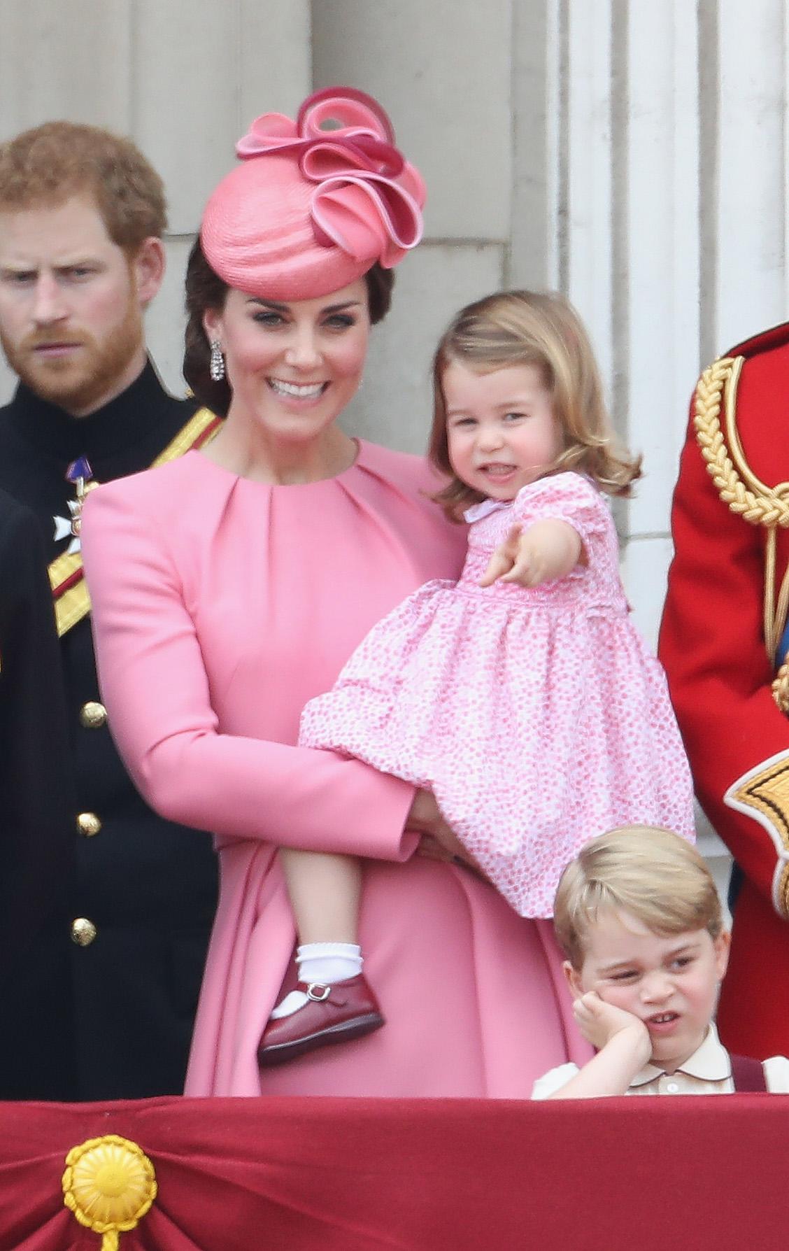 Kate Middleton y su hija princesa Charlotte