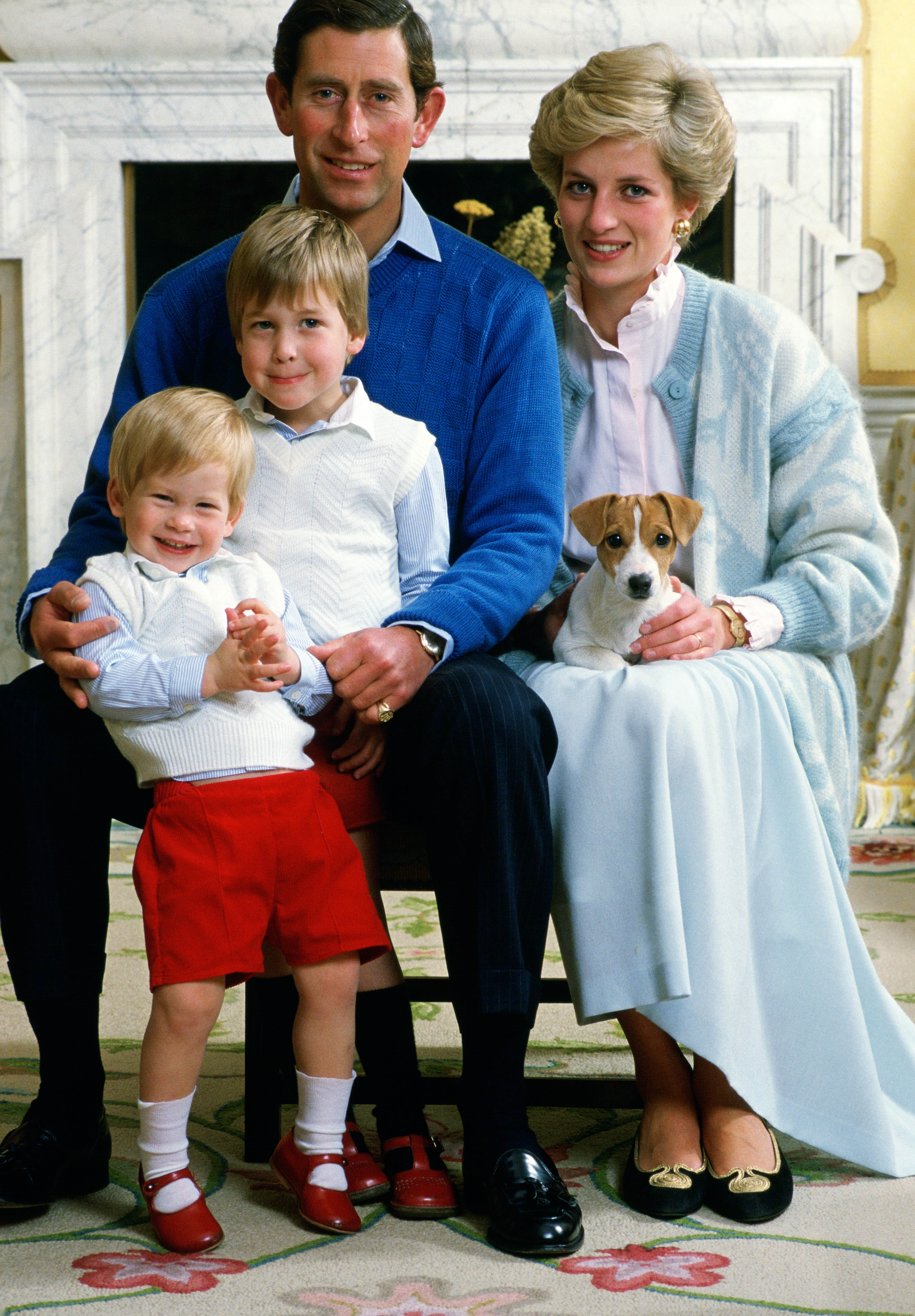 Príncipe Carlos, Lady Diana, Príncipe Harry, Príncipe William