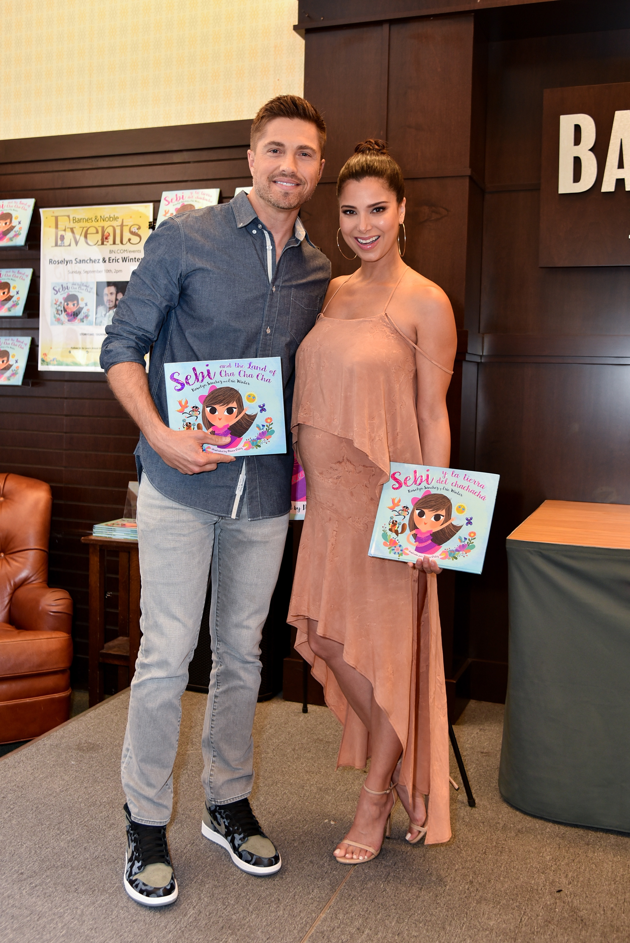 "Roselyn Sanchez And Eric Winter Book Signing For ""Sebi And The Land Of Cha Cha Cha"""