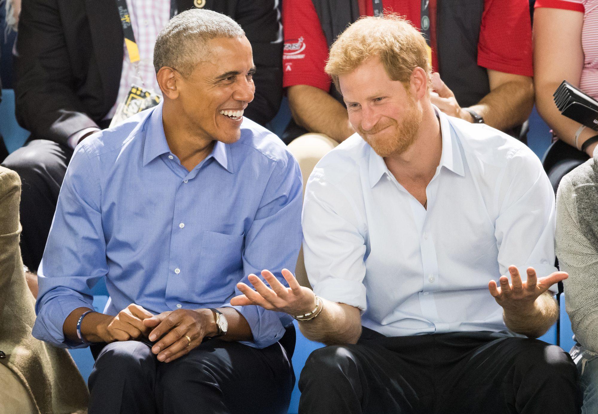 Barack Obama y el Príncipe Harry