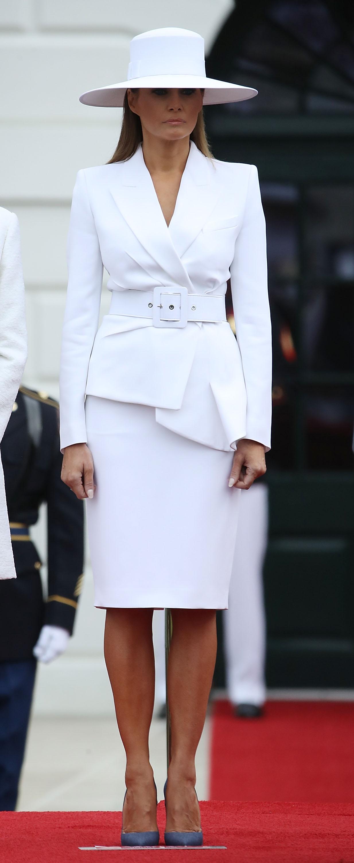 Melania Trump, sombrero, look, estilo
