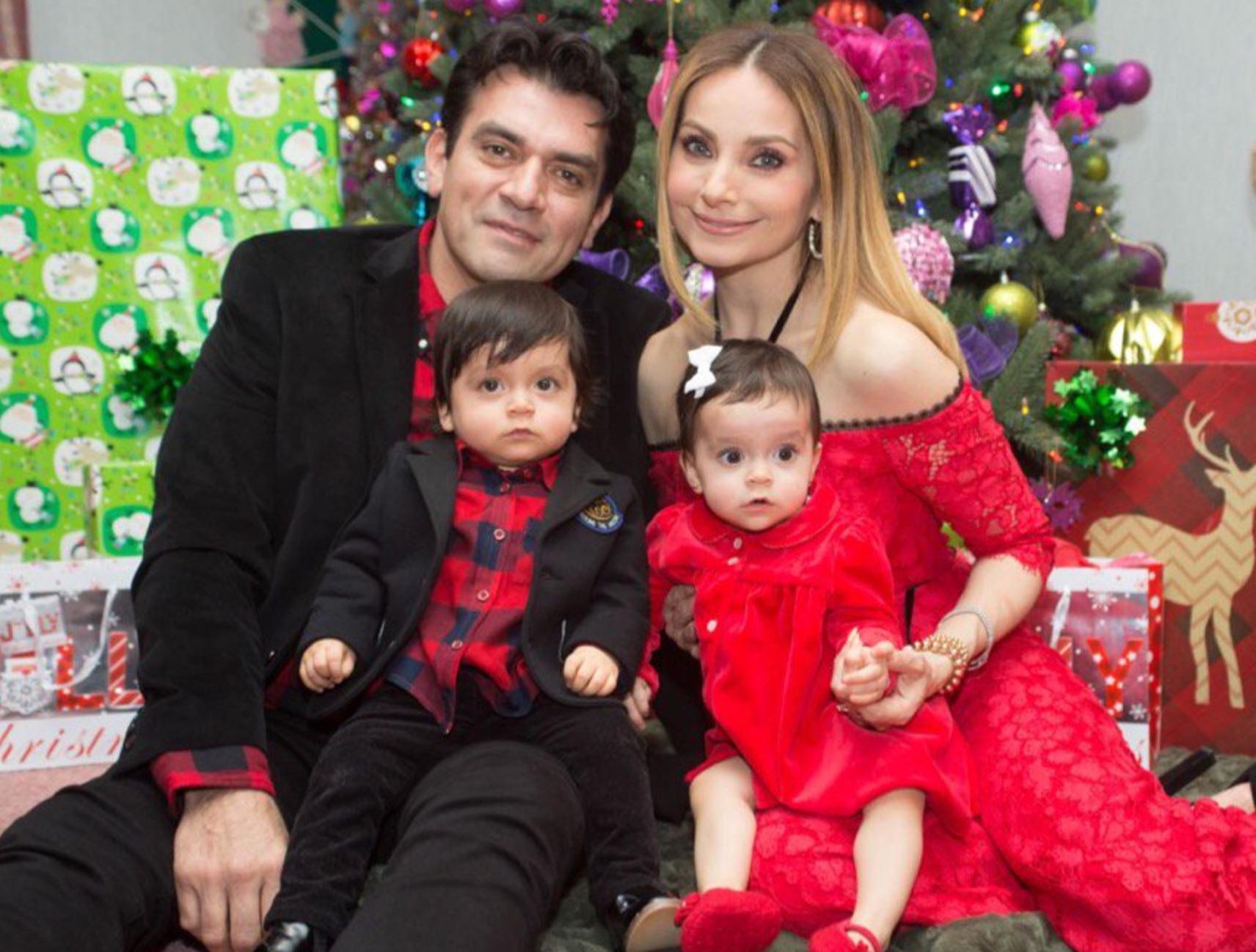 Jorge Salinas, Elizabeth Álvarez y sus mellizos