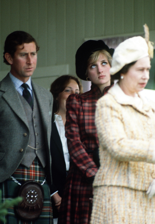 La princesa Diana y la reina Isabel II