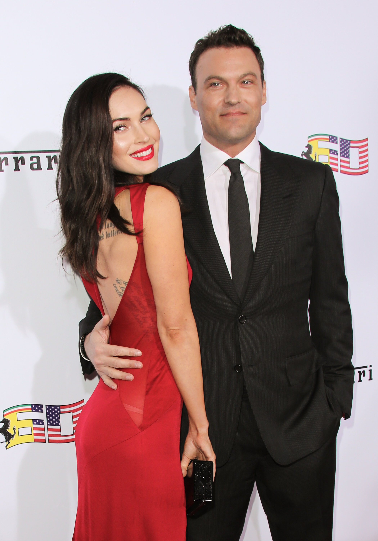 Megan Fox (L) and Brian Austin Green