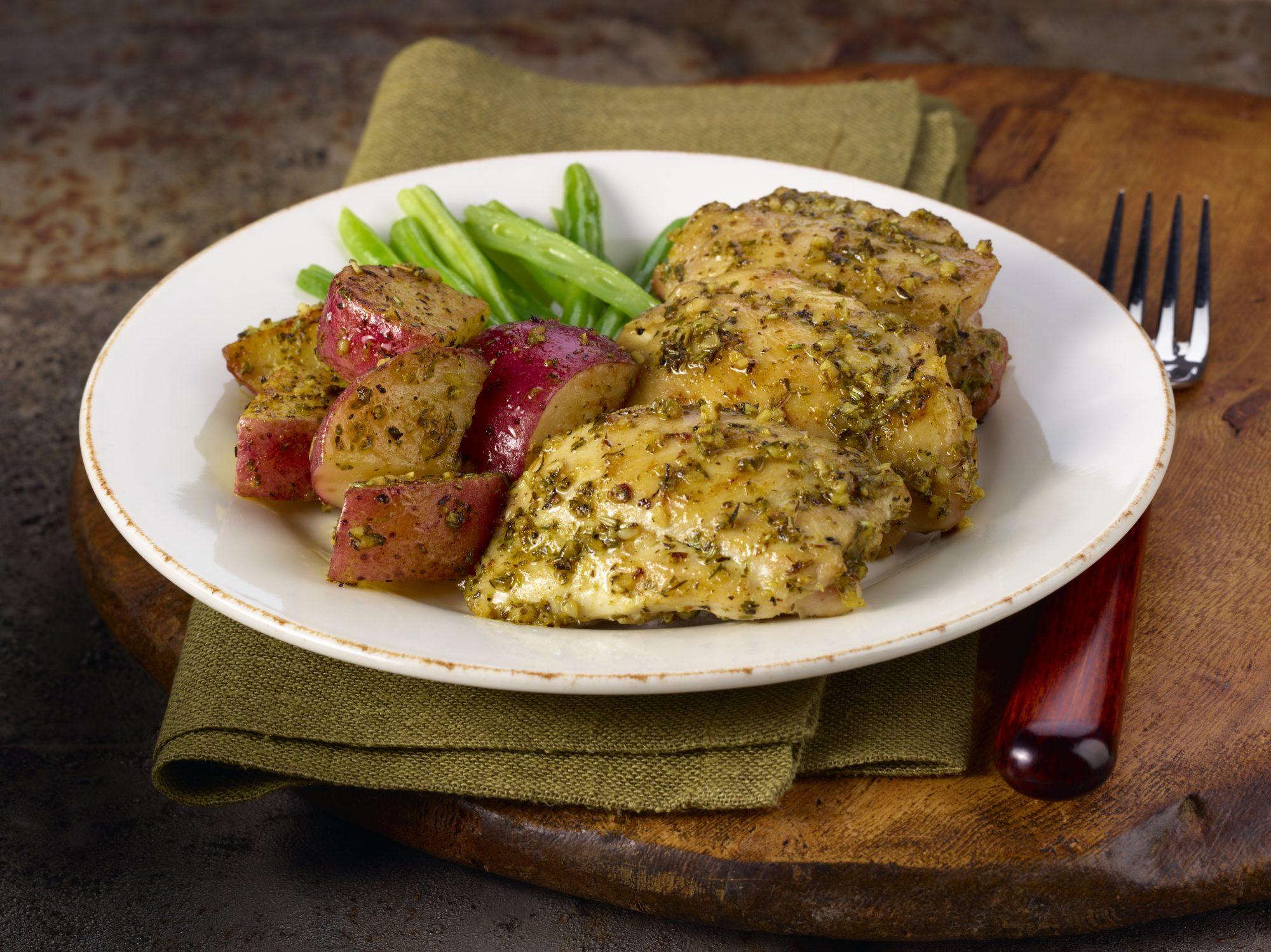 Pollo a la mostaza y el limón