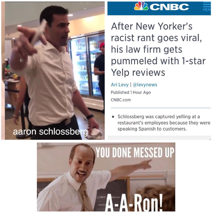 Aaron Schlossberg abogado racista11