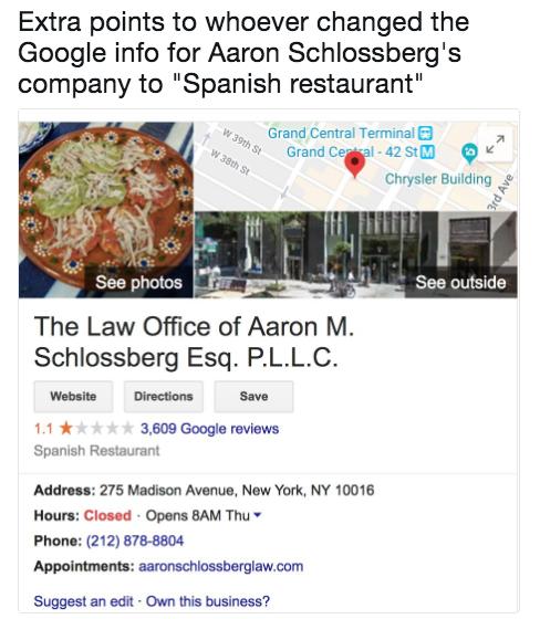 Aaron Schlossberg abogado racista3