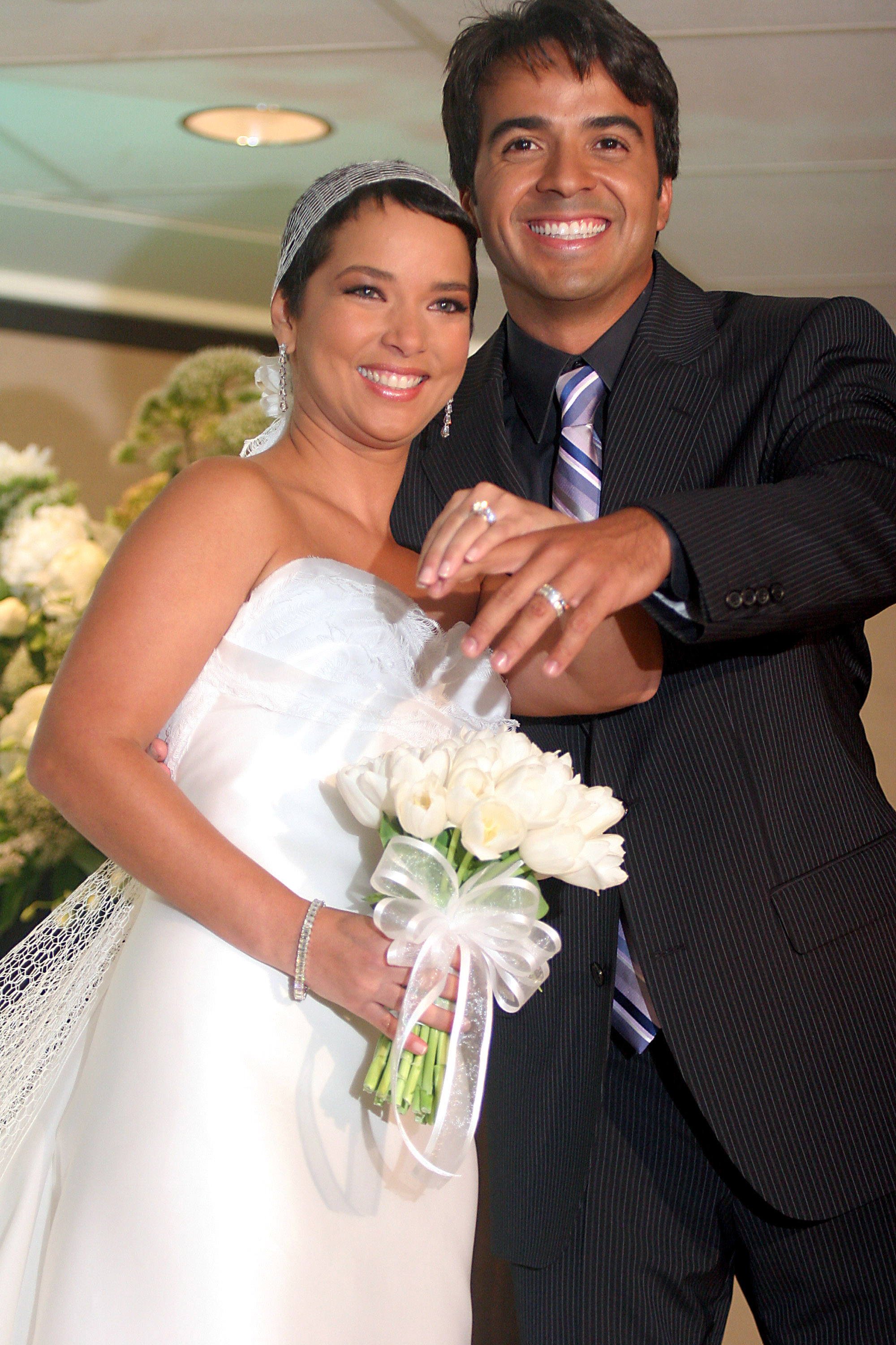 Luis Fonsi and Adamari Lopez Wedding - June 3, 2006