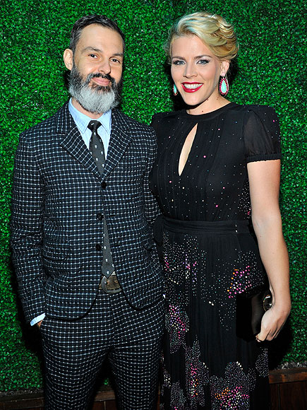 Busy Phillips y Marc Silverstein