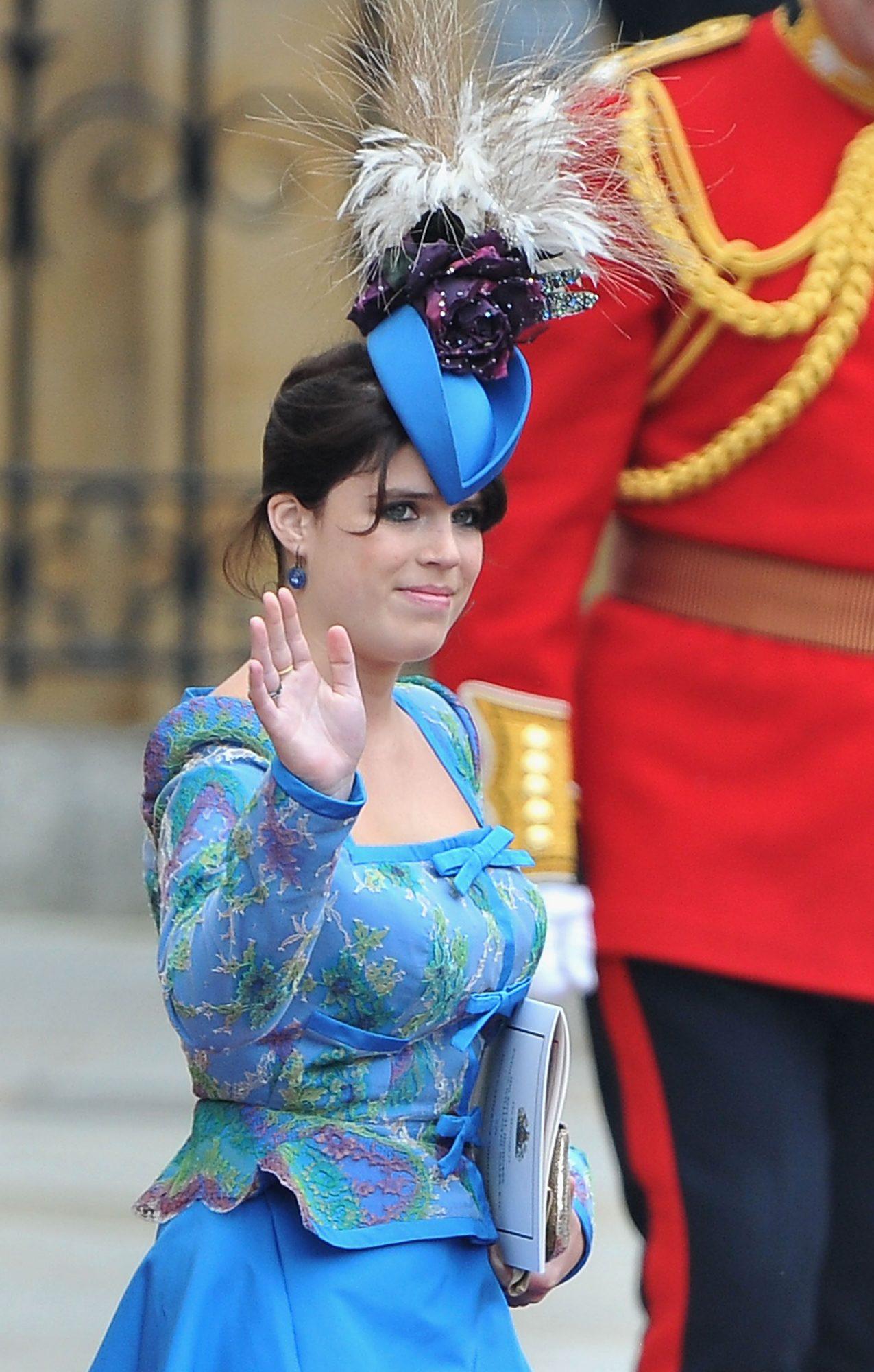Eugenie of York, fascinador, sombrero, boda real