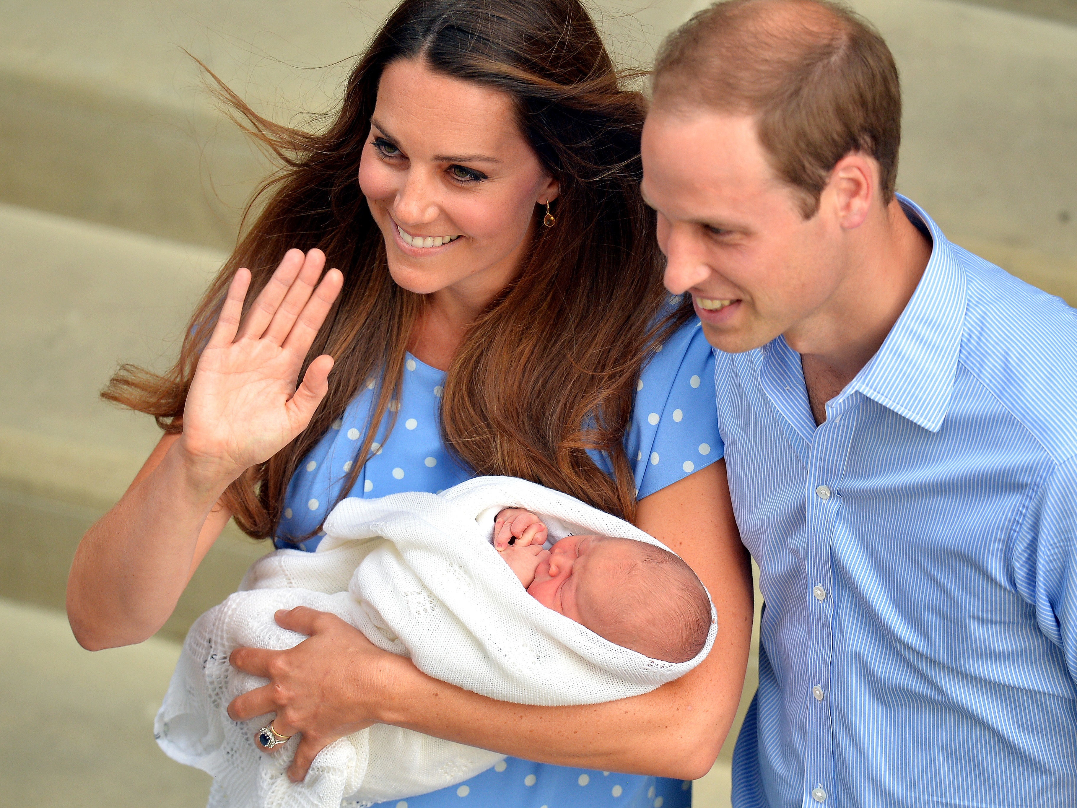 Príncipe William, princesa Kate, príncipe George