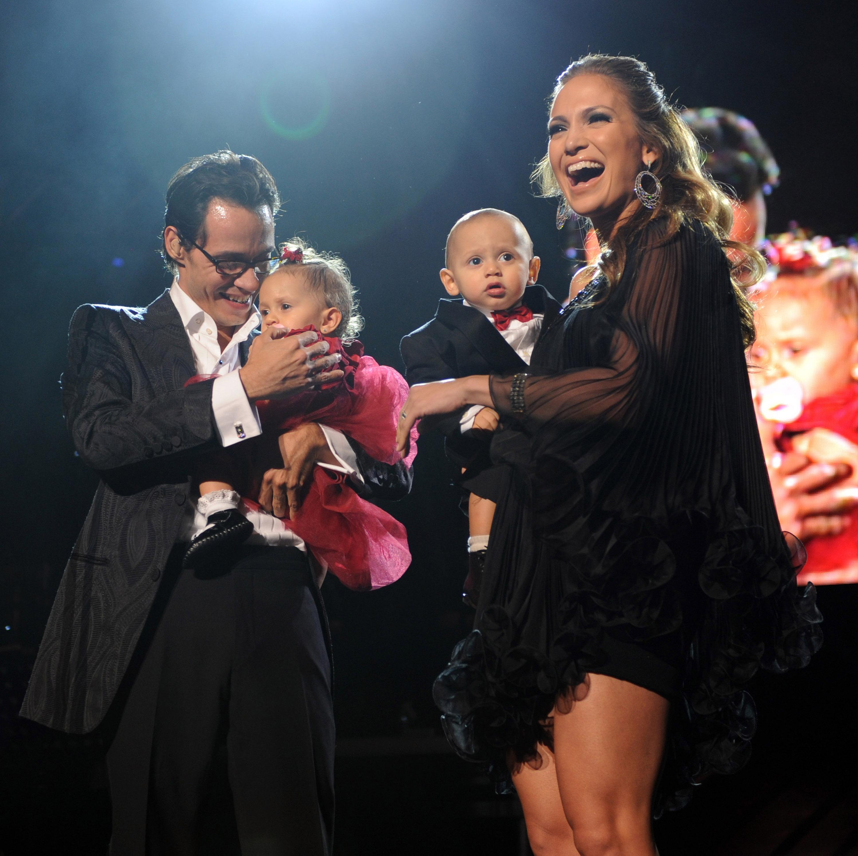 MArc Anthony, Jennifer López, Emme Muñiz, Max Muñiz