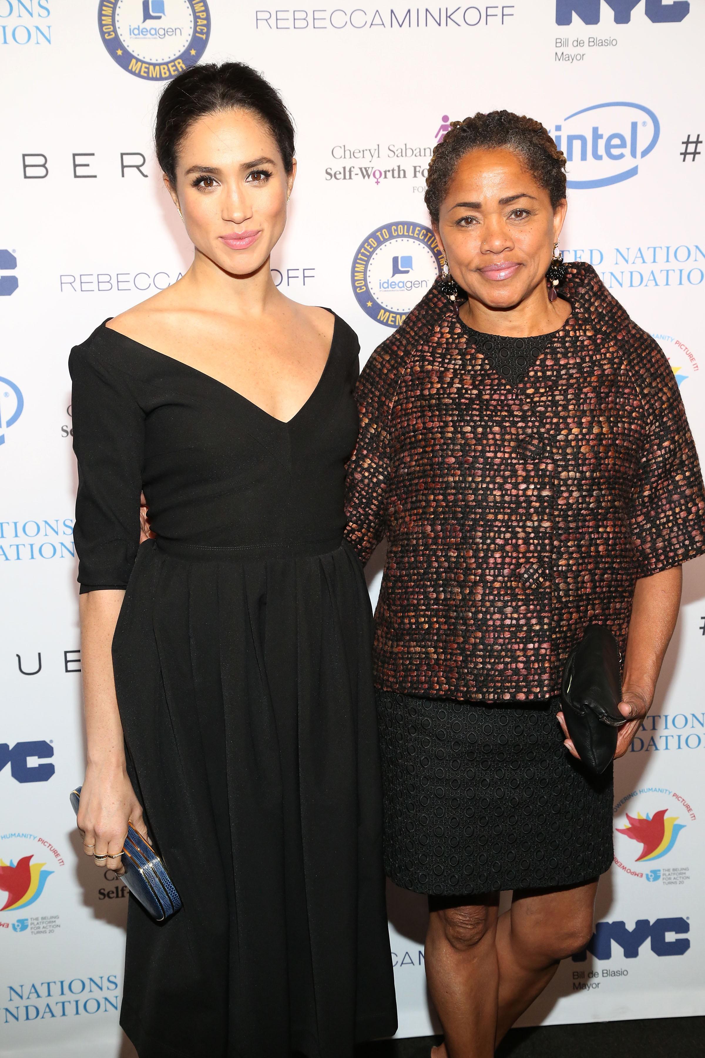 Meghan Markle y su madre Doria Ragland
