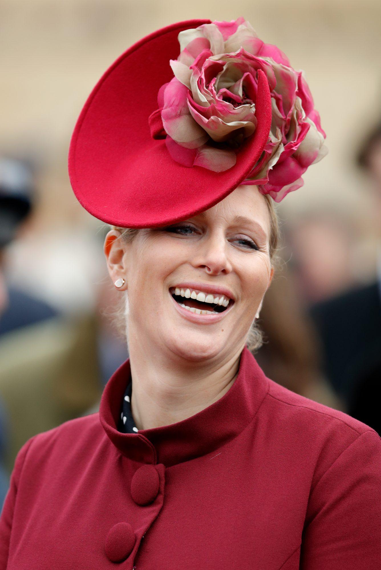 Zara Phillps, fascinador, sombrero, boda real