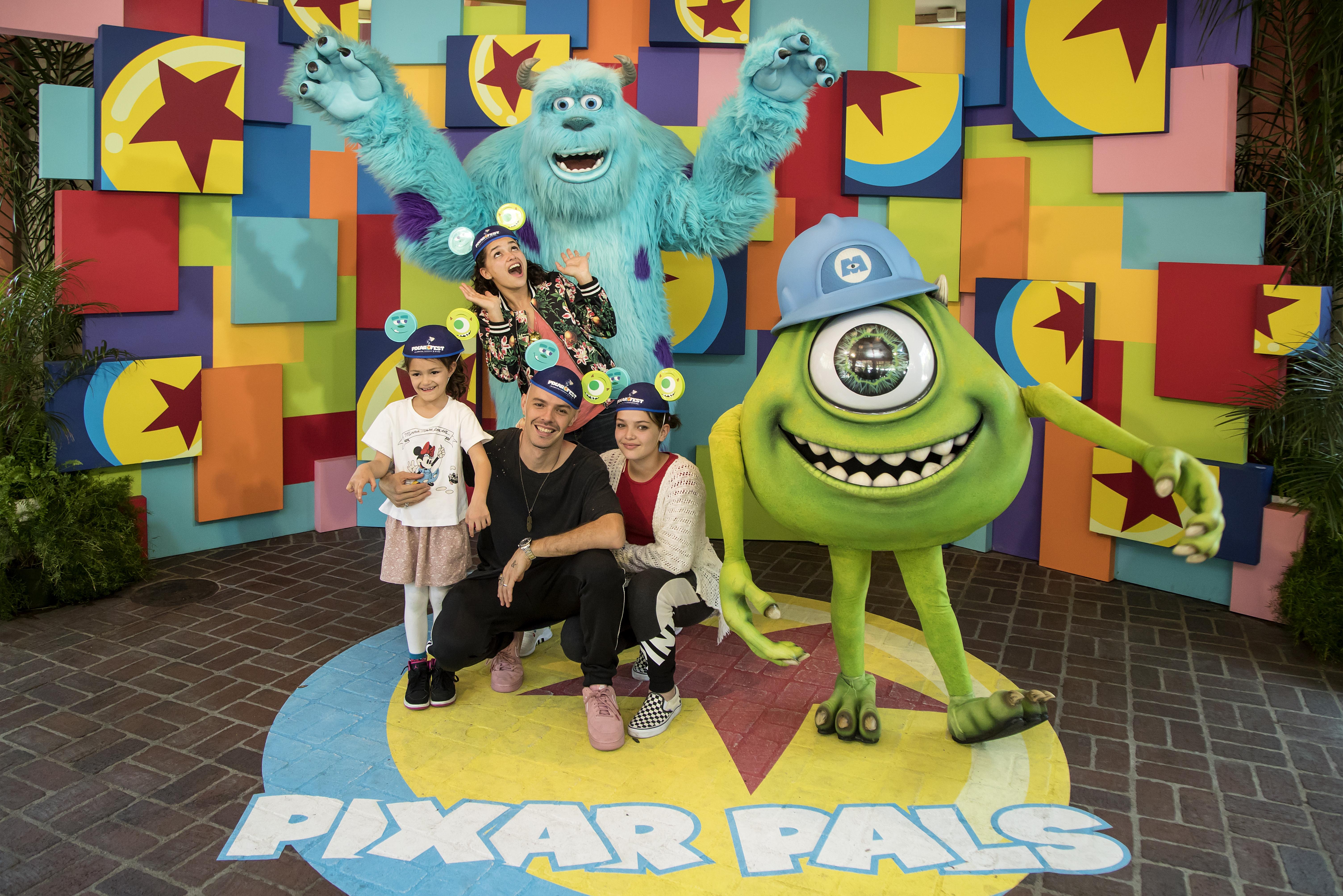 Jesse Huerta y familia