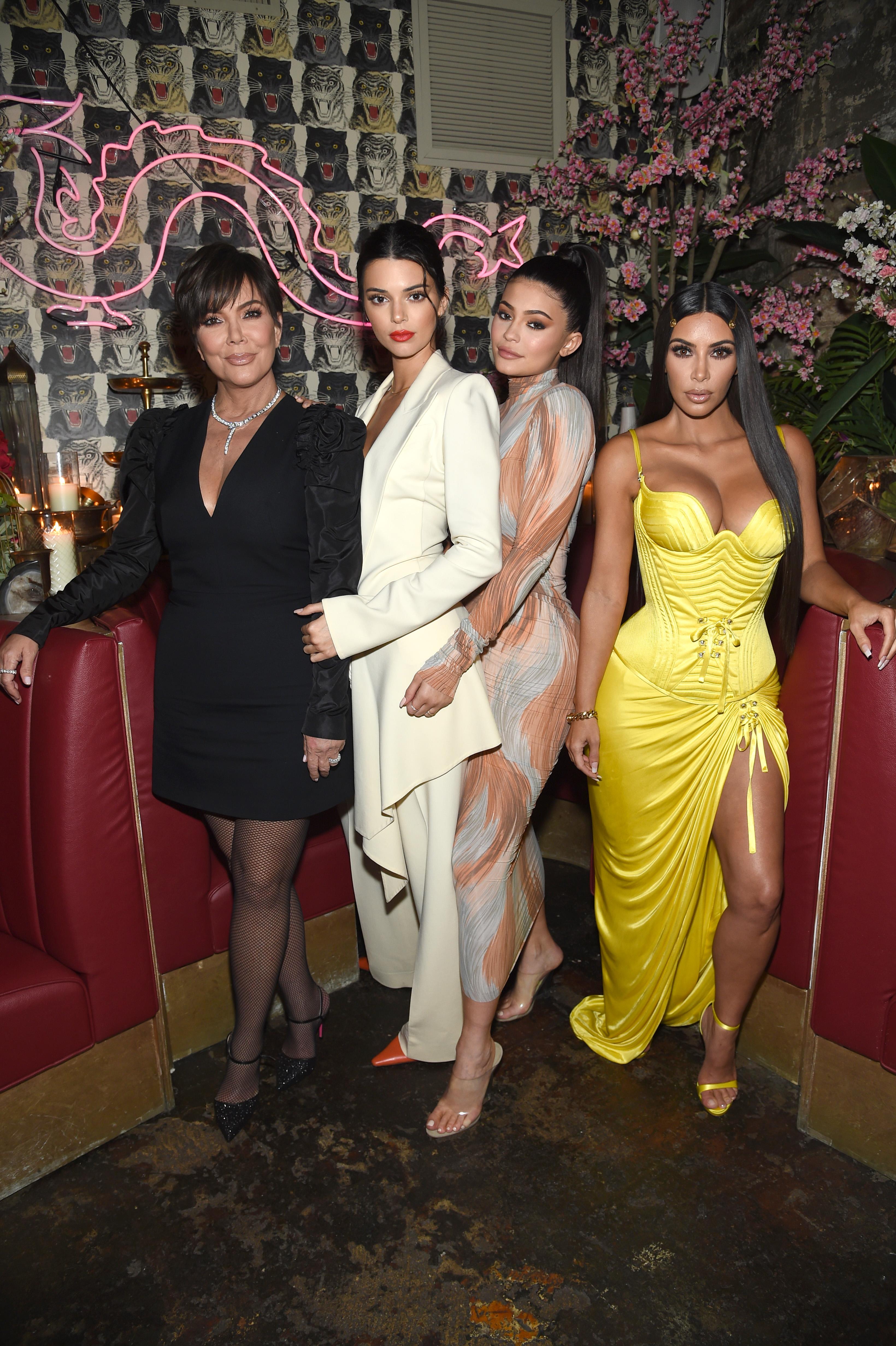Kris Jenner Kendall Jenner Kylie Jenner Kim Kardashian West