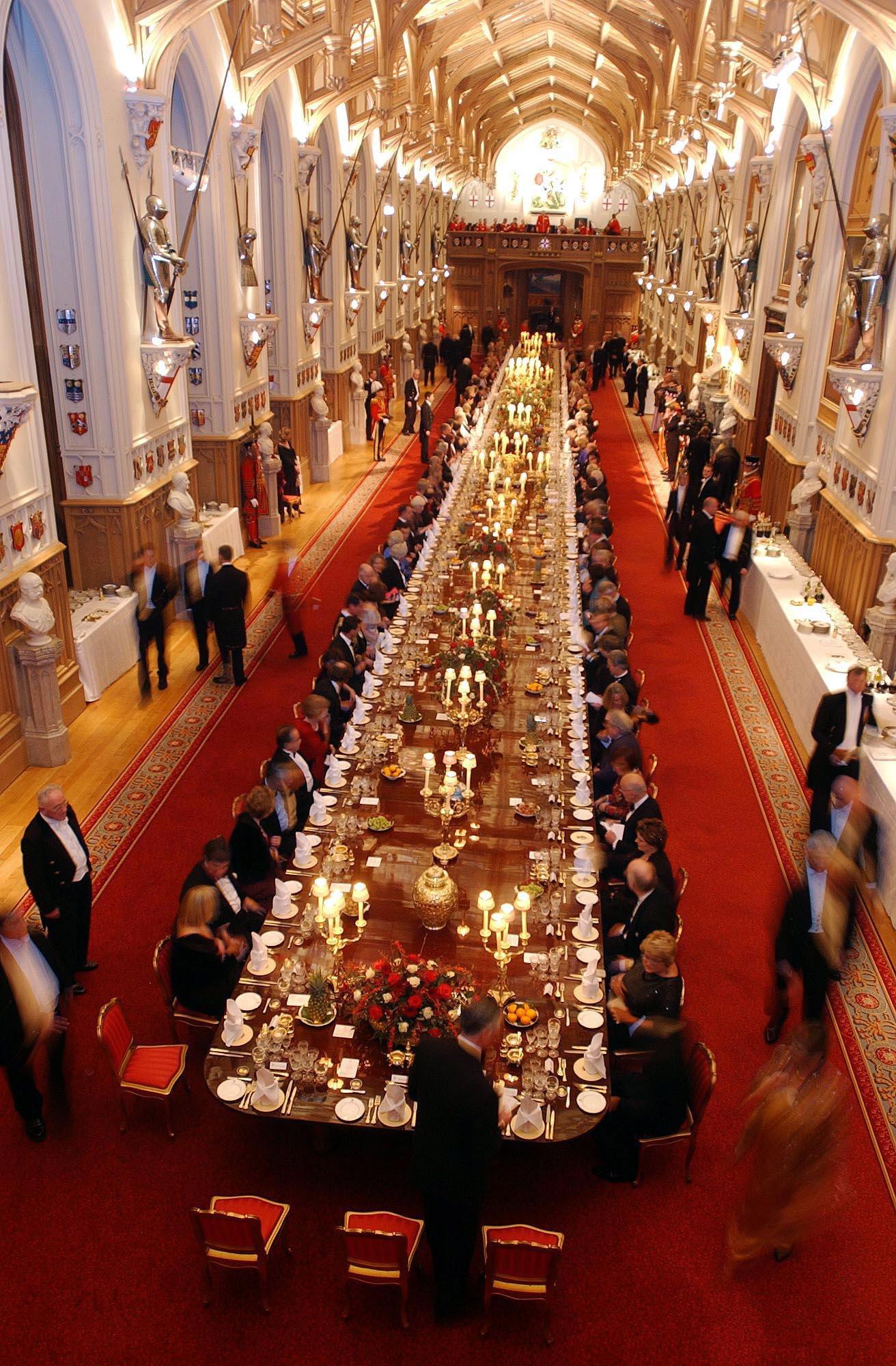 Salón de banquetes del palacio de Windsor