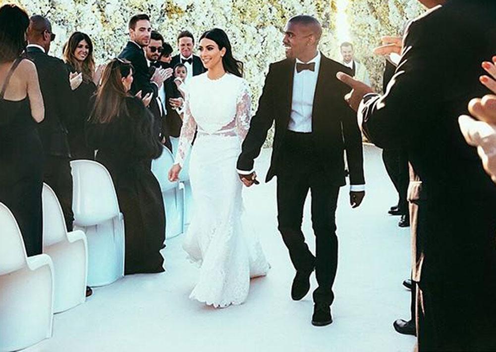 Vestidos de novia, boda, famosas, Kim Kardashian