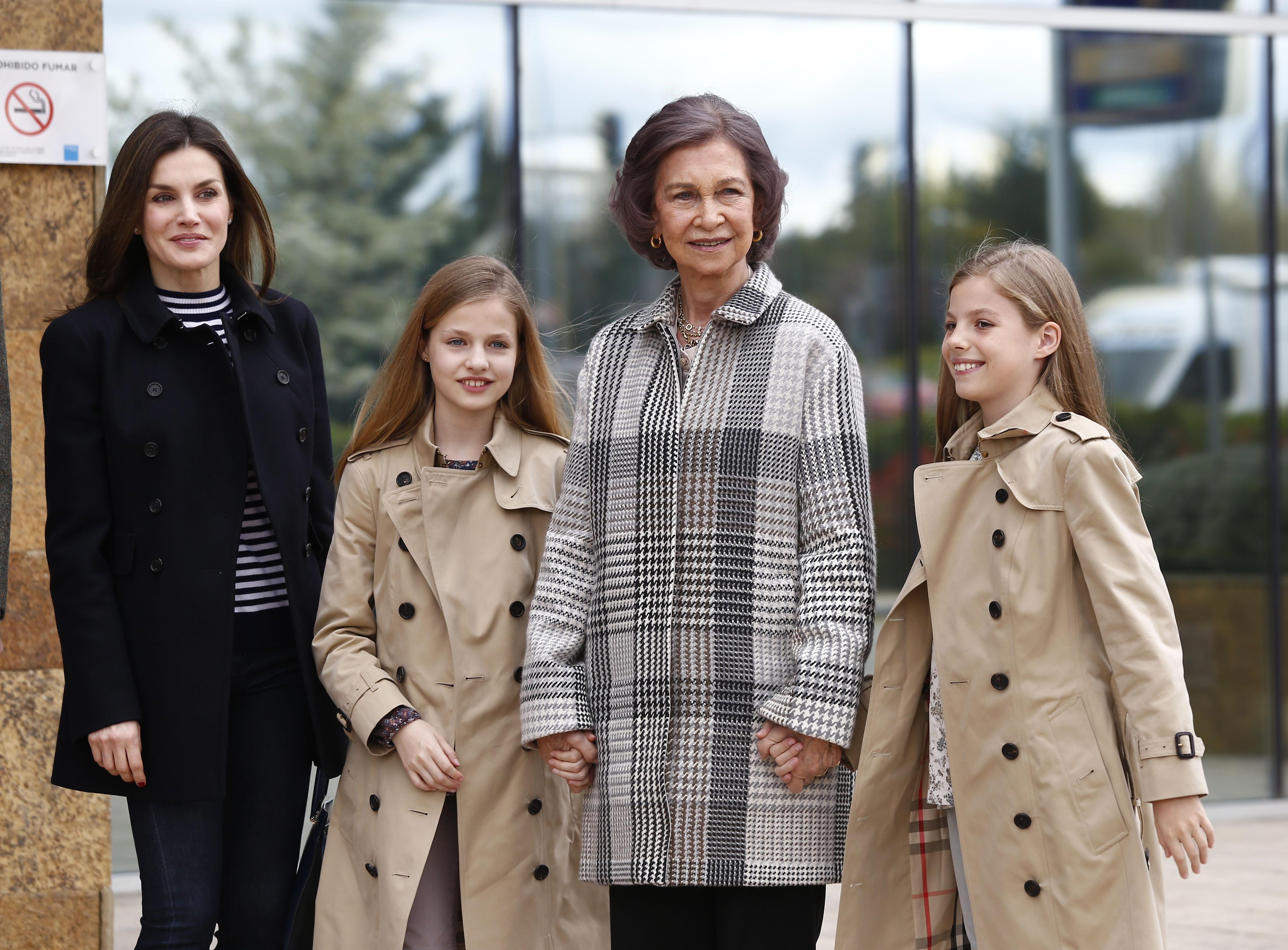 Spanish Royal Family Visits King Juan Carlos At Hospital