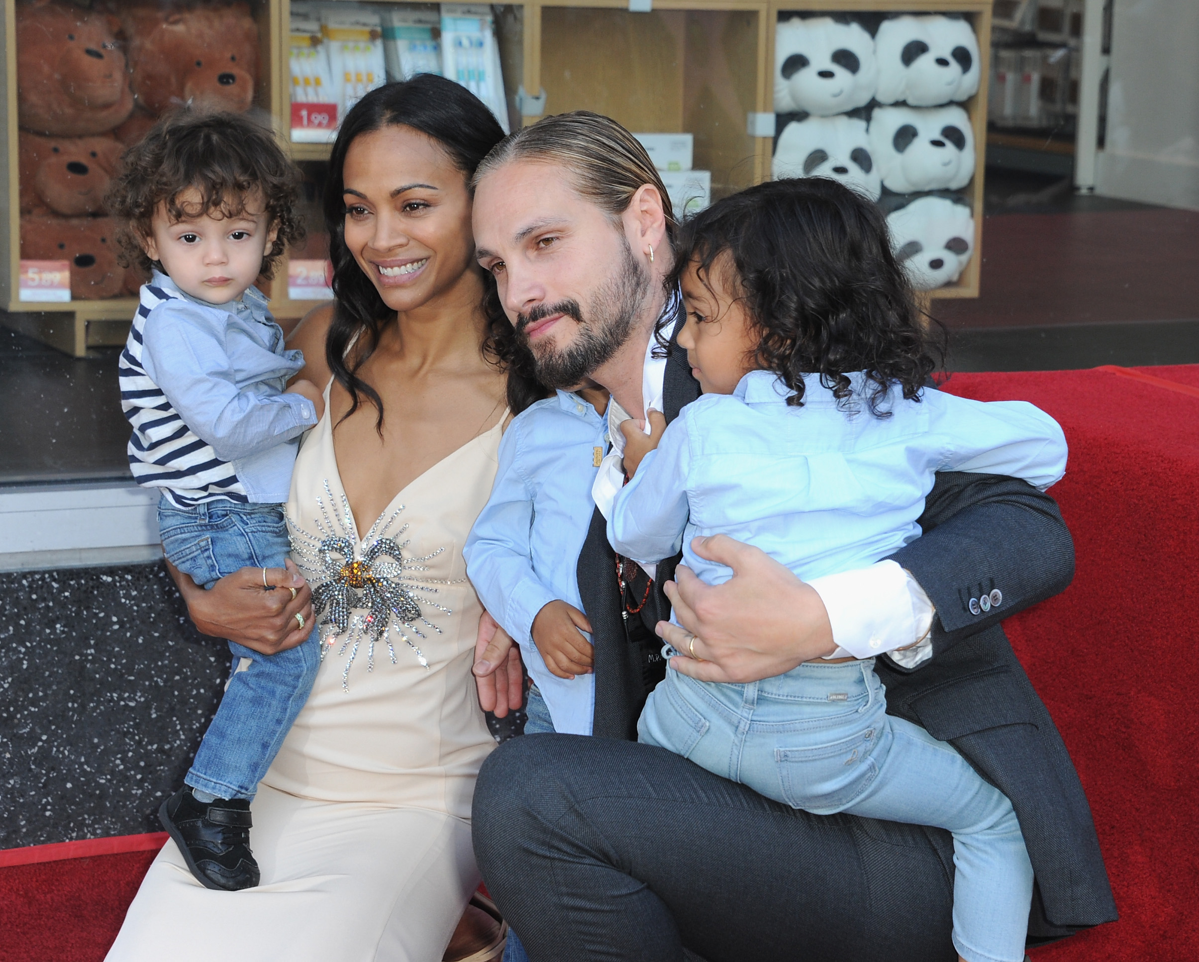 Zoe Saldana Honored With A star ceremony on The Hollywood Walk Of Fame