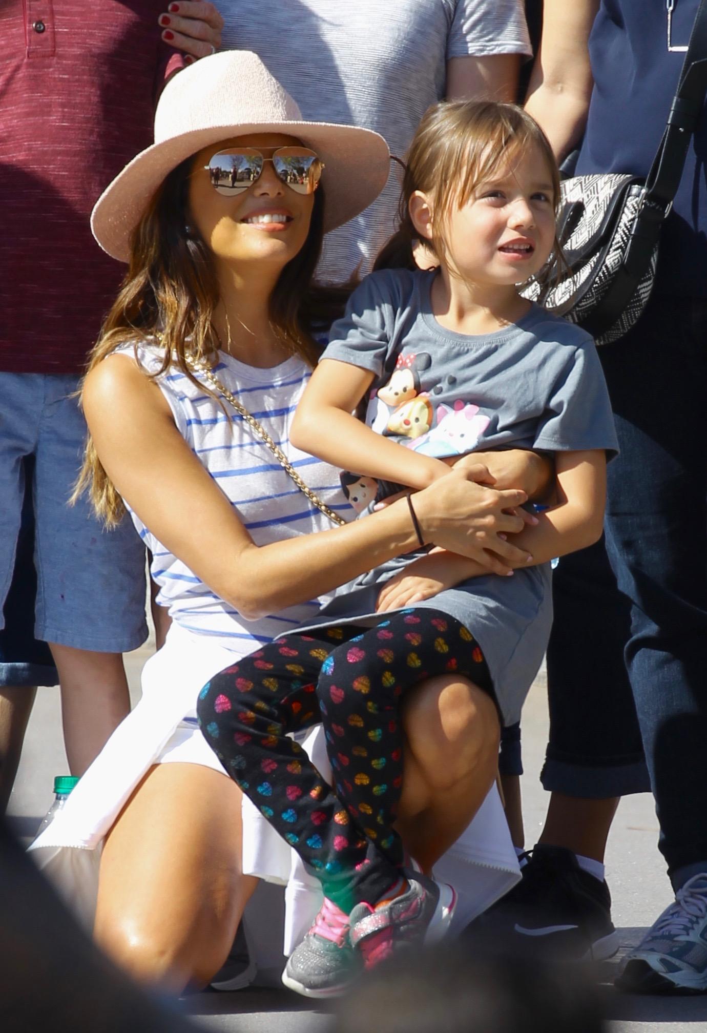 Eva Longoria Celebrates Her 42nd Birthday With Family At Disneyland