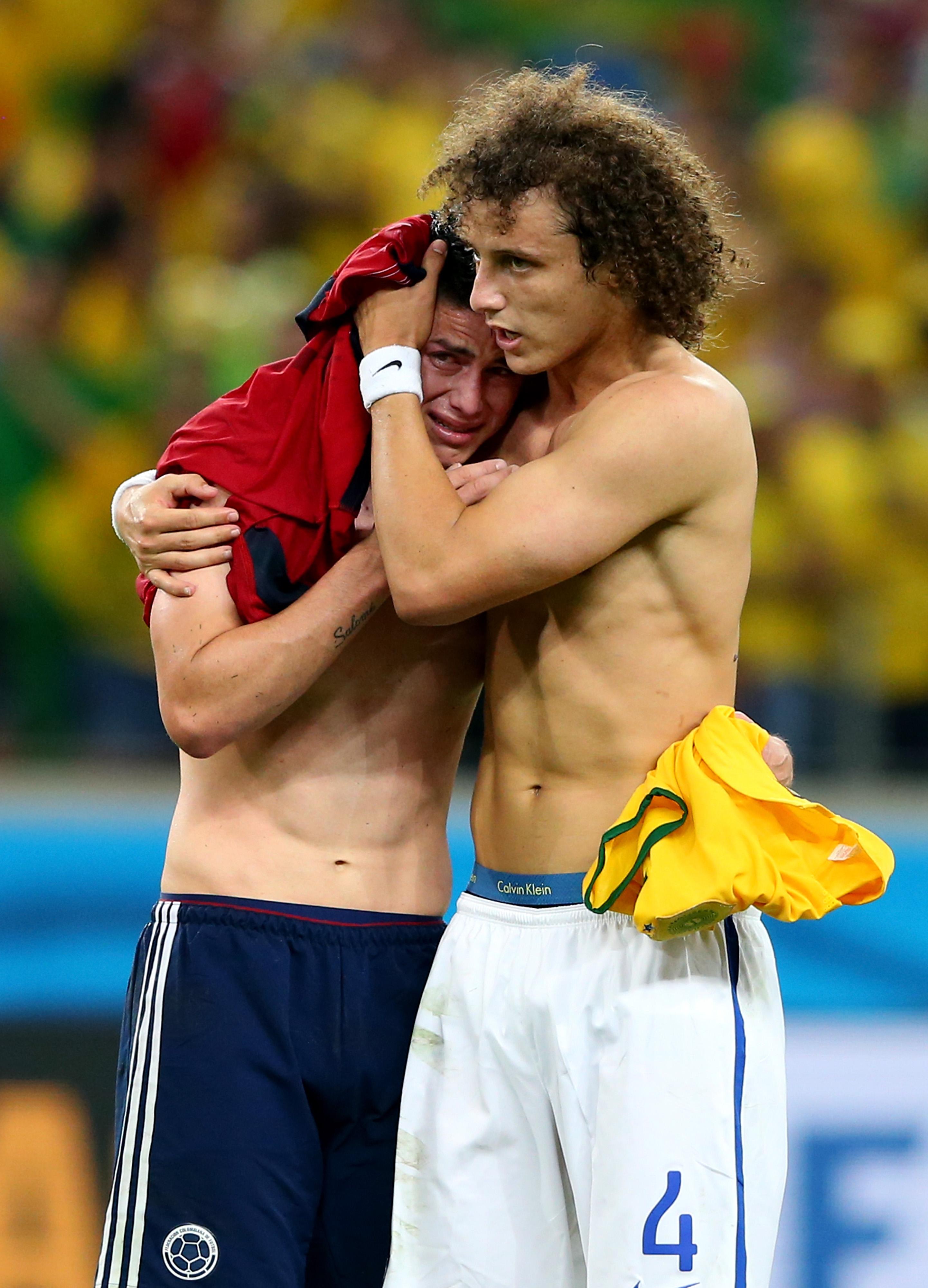 James Rodriguez, David Luiz
