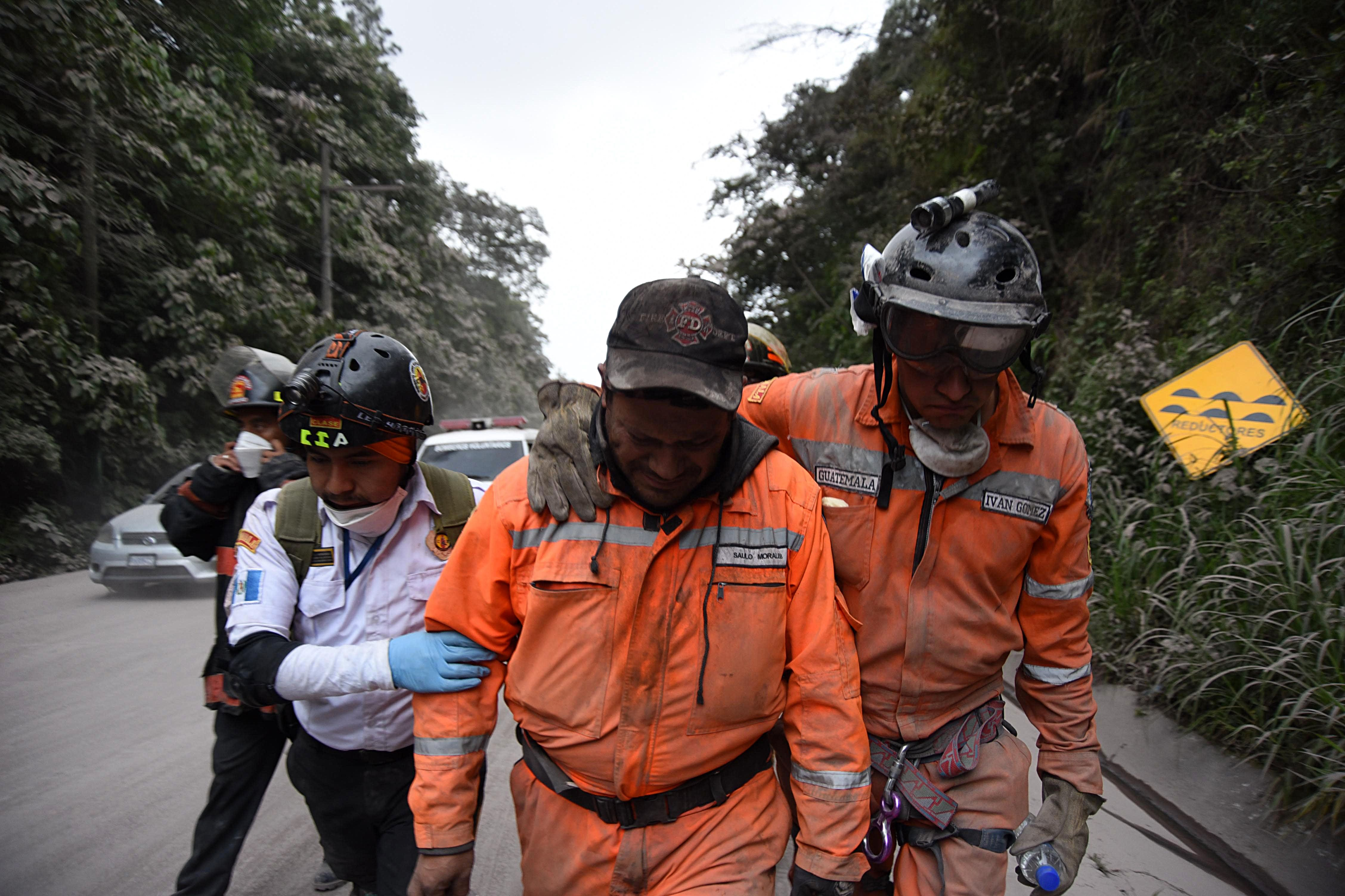 Tristeza tras erupción del volcán de Fuego en Guatemala