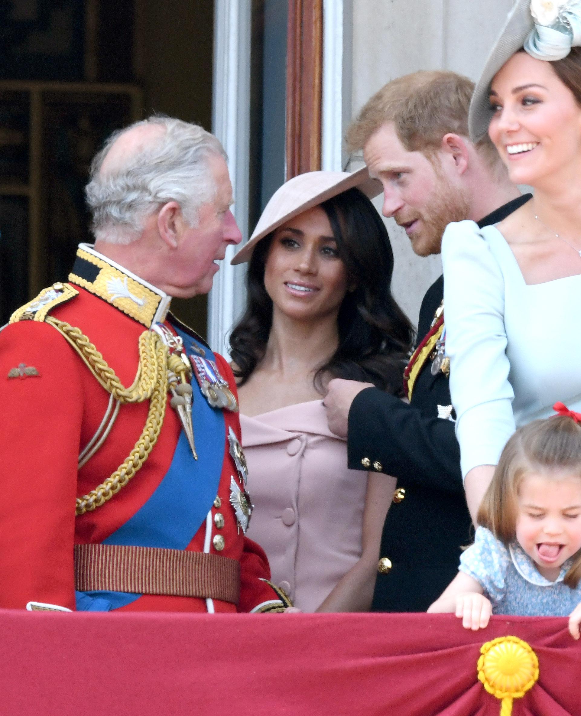 Meghan Markle, Príncipe Harry, Príncipe Carlos