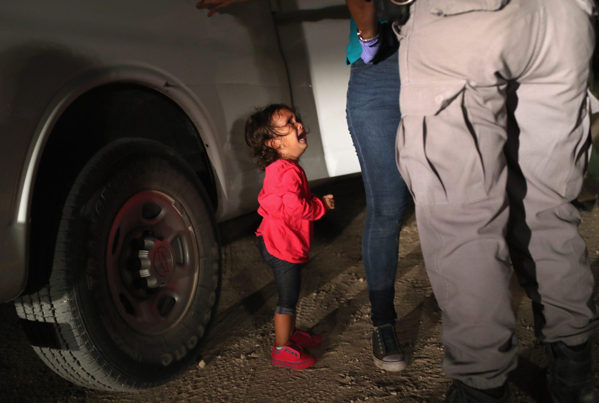 Niña de dos años hondureña migrante