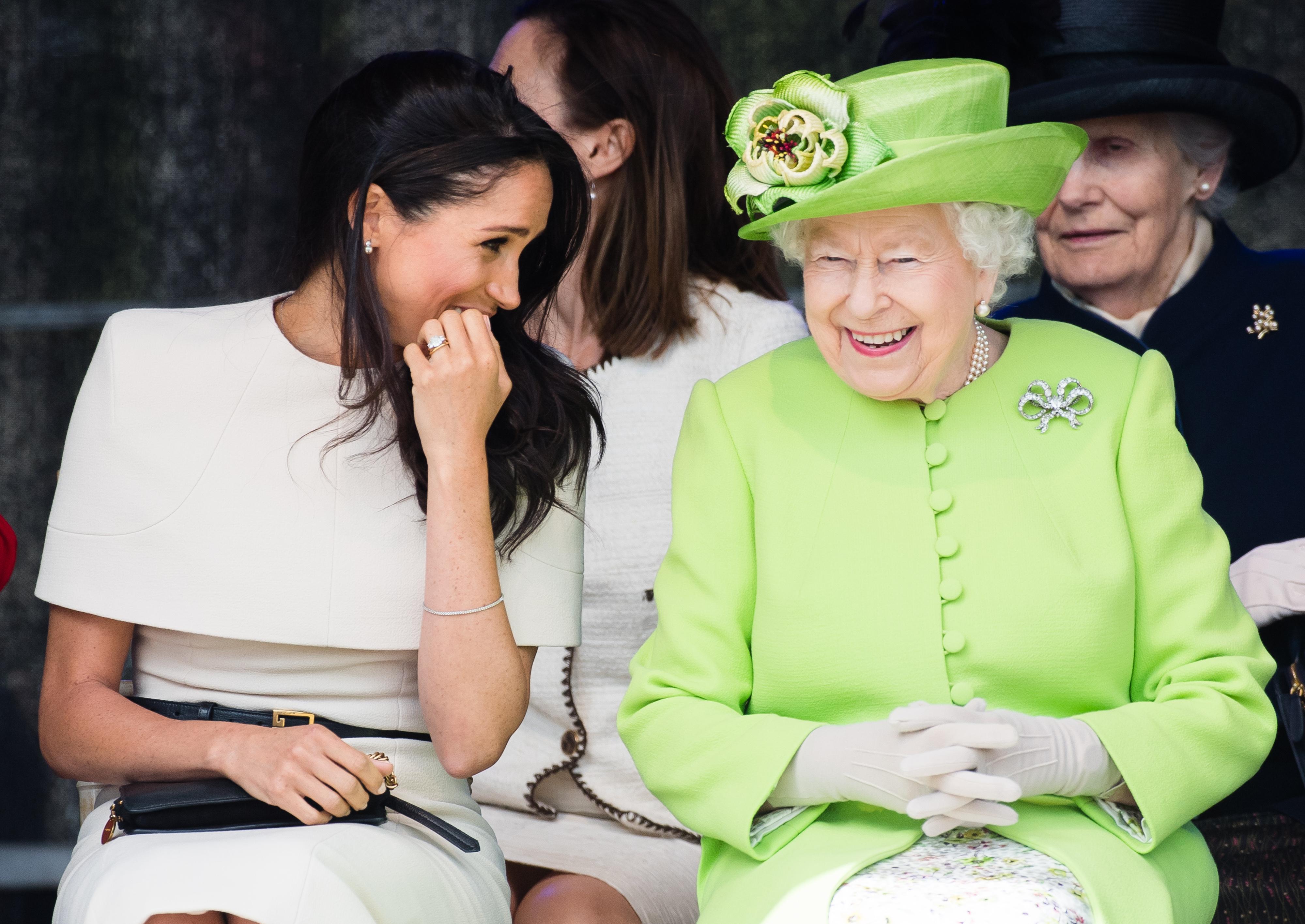 Meghan Markle, reina Isabel II