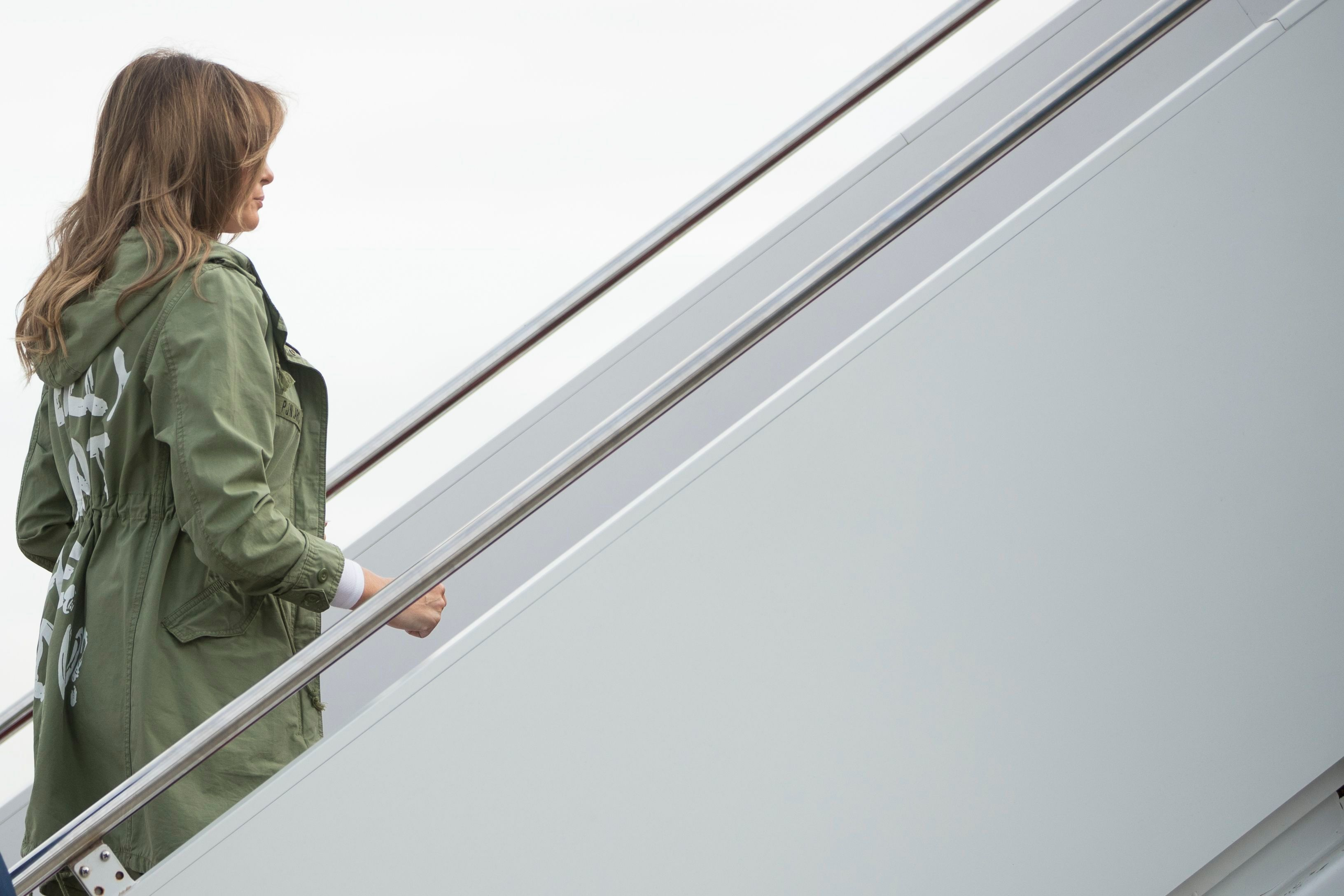 Melania Trump, jacket, texas, zara, controversia