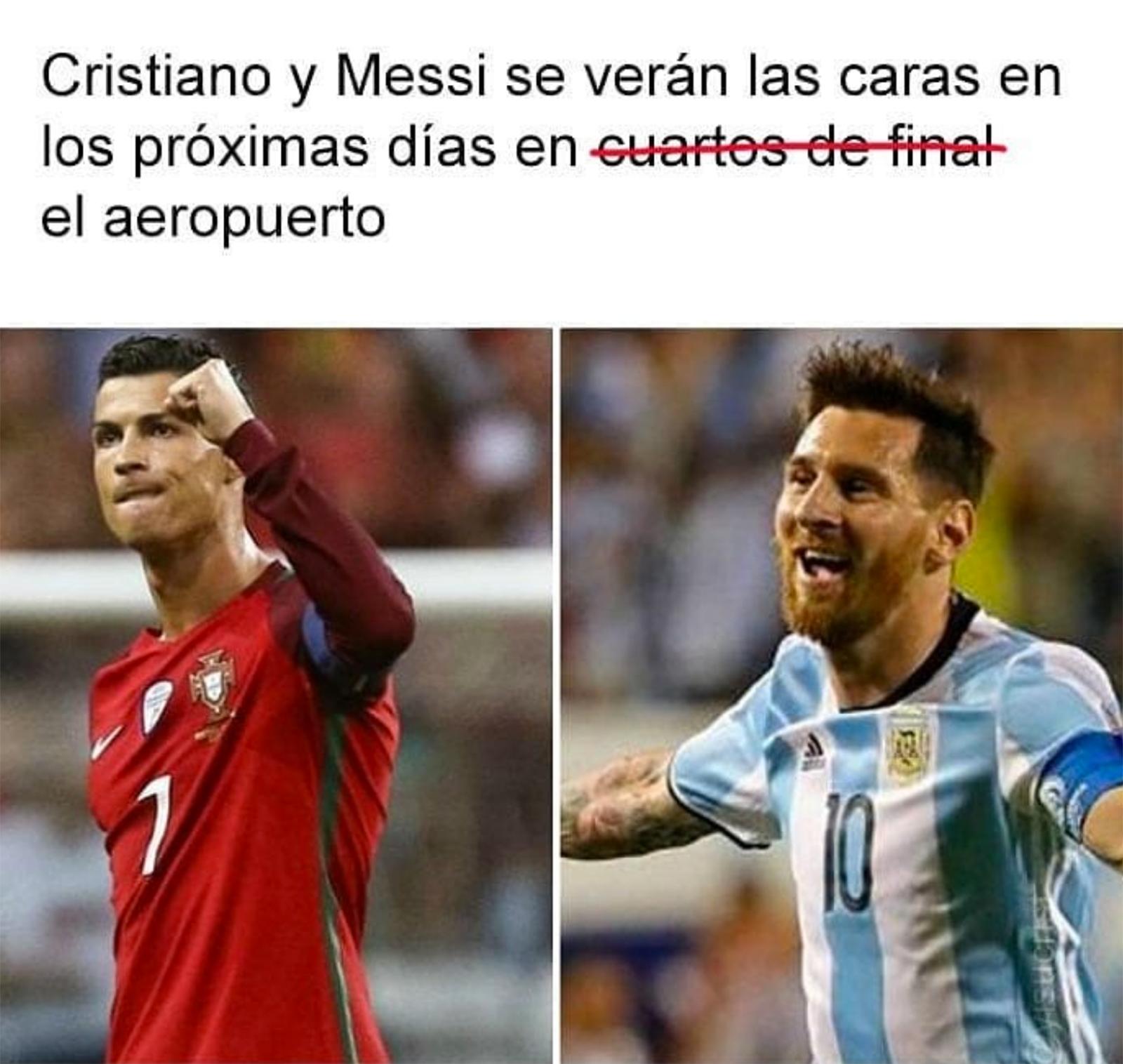 Memes de la eliminación de Ronaldo y Messi en el Mundial